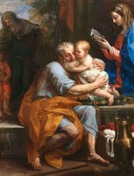 Saint Joseph holding baby