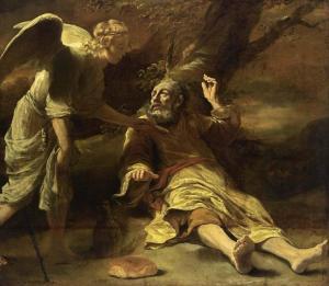 Elijah, angel and bread
