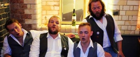 Singing quartet The Simpletones