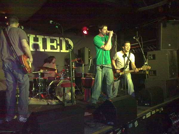 Steve Faulkner with his band at The Shed, in March 2009.