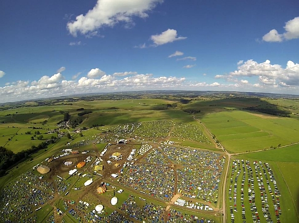 Aerial view of the YNot Festival site in 2014