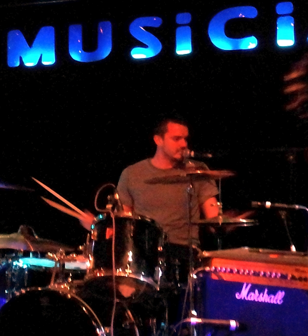 Neal Hill of The Furies, at The Musician. in 2014