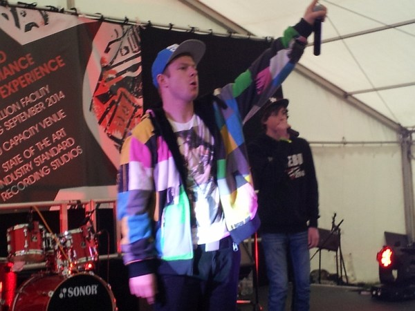 Jonezy and Alexandru on the Loco stage on Saturday at the Glastonbudget festival in 2014