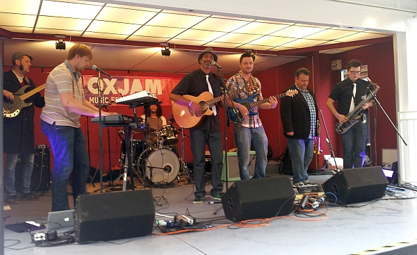 Echo Marley on the Orton Square Stage Oxjam 2014