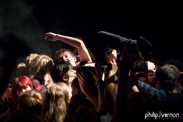 Alex does a crowd Surf