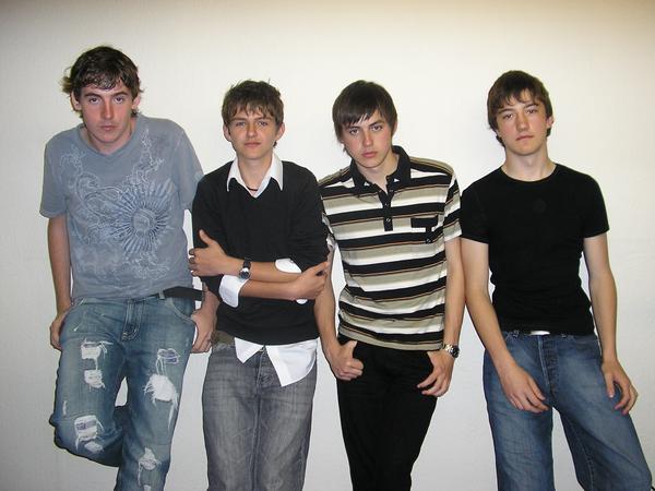 The founding members of The Heroes L to R: Tom Keene, Alex Van Roose, Alex Totman and Matt Jones Circa 2007