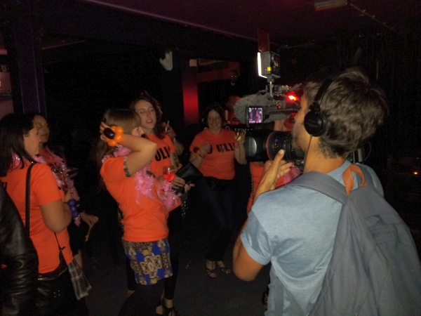 Hen party with film crew at Sumo