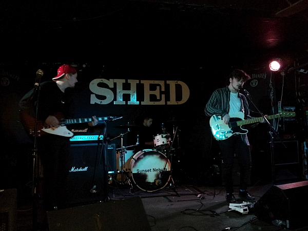 The Lids on stage at The Shed, 16th January 2016