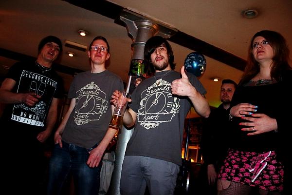 Ian Bedder, Dave Fraine, Matt Fraine. at Oddbar. Photo: Kevin Gaughan.