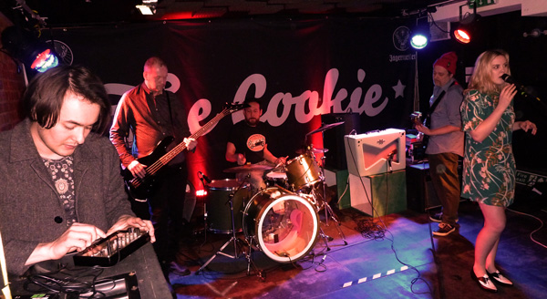 Courtney Askey and band at the Cookie 13th March 2016. Photo: Keith Jobey.