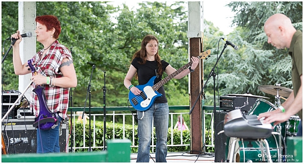 The Bella Tones playing at the Western Park festival 2016. Photo: Pascal Pereira photography.