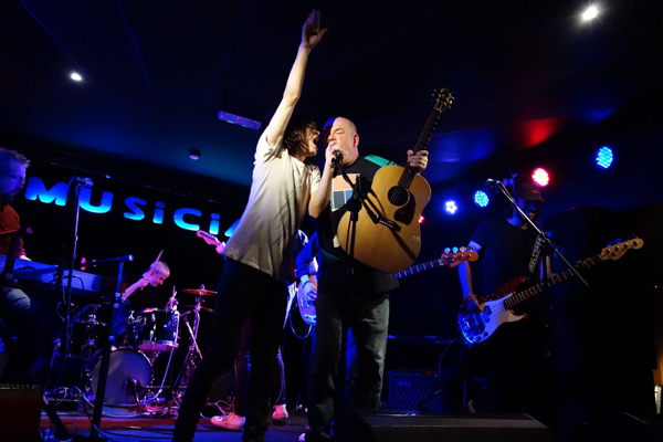 Kevin Hewick and Ash Mammal at the Musician, 31st August 2016. Photo: Trevor Cobbe
