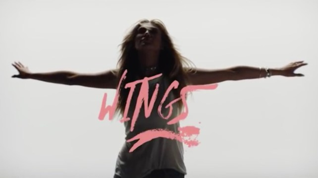 "Delta Goodrem's new UK single ""Wings"" impacts October 30th."