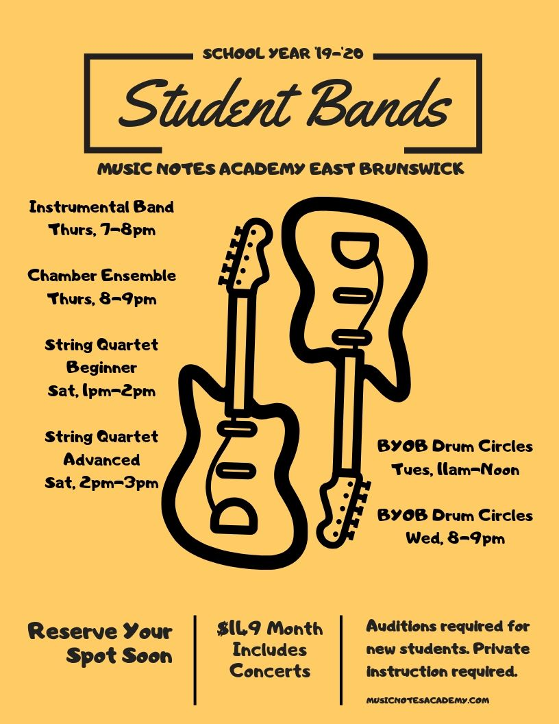 student rock bands in East Brunswick, NJ