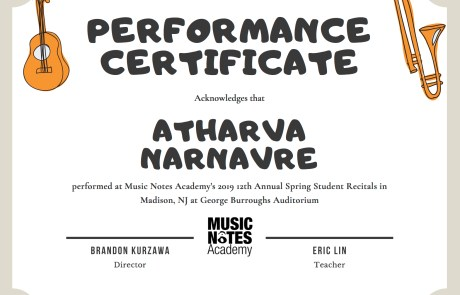 Student Recitals, Showcases in East Brunswick, NJ