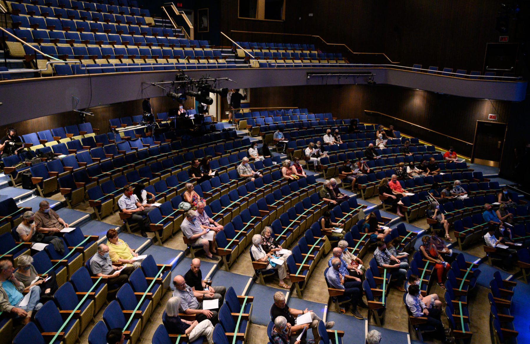audience members seated spaced apart at The Kessler Academy 2021 event at Vancouver Playhouse