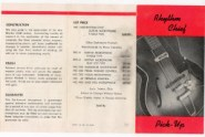 1957 dated Red fold-out, double-sided, showing Model 1000 Rhythm Chief