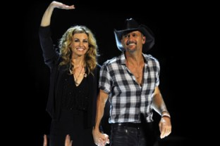 Tim McGraw and Faith Hill perform at the Rod Laver Arena on March 20, 2012, in Melbourne, Australia. (Photo: Martin Philbey)