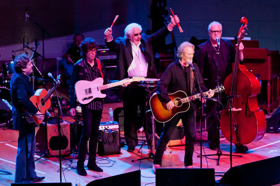 Pictured (L-R): Shawn Camp, Kenny Vaughan, W.S. Holland, Kris Kristofferson, David Roe