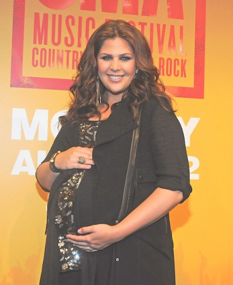 Hillary Scott CMA Music Fest backstage