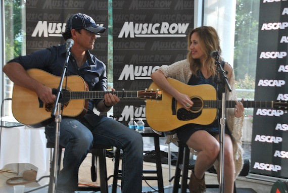 """Jimmy Yeary (L) and Jessi Alexander perform Song of the Year """"I Drive Your Truck,"""" which they wrote with Connie Harrington."""