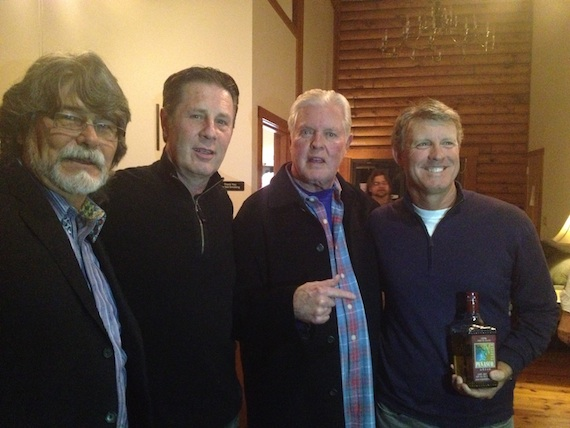 Pictured (L-R): Randy Owens of Alabama; Bart Herbison, NSAI; Harold Shedd, Exec Producer and Founder of the Music Mill; Mike McCuen, Sponsor from Del Bravo Tequilas.