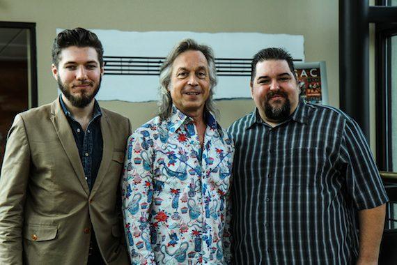 Pictured (L-R): Producer/director Jeremy Dylan, Lauderdale and SESAC's Tim Fink. Photo: Bev Moser