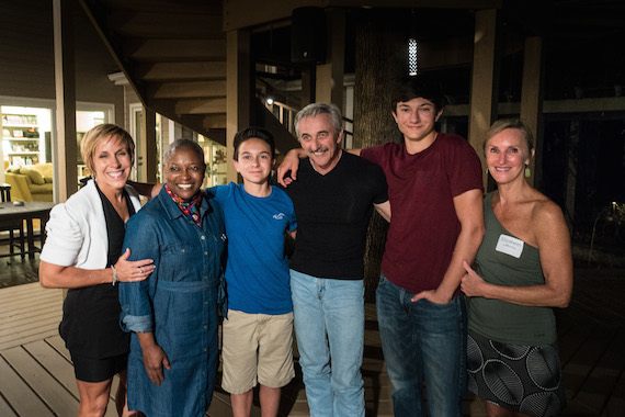 Pictured (L-R) Thea Tippin, Agenia Clark, President and CEO Girl Scouts of Middle Tennessee, Tom Tippin, Aaron Tippin, Ted Tippin, Dr. Elizabeth LaRoche. Photo: Stufflebean Photography