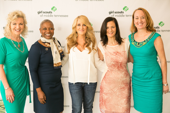 Pictured (L-R) Lisa Harless, Senior Vice President Regions Bank, Agenia Clark, President and CEO Girl Scouts of Middle Tennessee, Lee Ann Womack, Leslie Fram, CMT Vice President,Music Strategy, Lucia Folk, CMT Vice President, Public Affairs. Photo: Mandy Whitley Photography