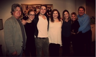 Pictured (L-R): Patrick Clifford, VP Music Publishing and A&R Nashville, Disney Music Publishing; Penny Gattis, Writer/Publisher Relations, BMI; Steven McMorran, writer; Emily Peacock, Coordinator, AAM; Ciara Gardner, A&R Coordinator, Disney Music Publishing; Leslie DiPiero, Manager, AAM; David Preston Director, Writer/Publisher Relations, BMI.
