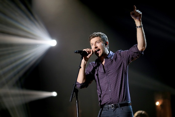 Brett Eldredge performs during the American Country Countdown awards.