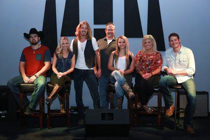 Pictured L-R: Denny Strickland, Emily Minor, Bucky Covington, John Pyne (President of Digital Rodeo), Rylie Lynn, Allison Bray and Ben Rue. Photo: Bev Moser
