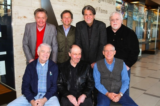 Pictured (Standing, L-R): Bill Anderson, Tom Douglas, Richard Leigh, and Pat Alger. (Seated, L-R): Dickey Lee, Bobby Braddock and Allen Shamblin. Photo: Bev Moser