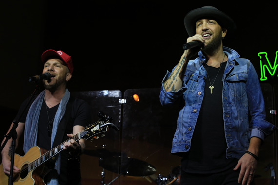 "LOCASH wraps up the afternoon before celebrating their new wine brand, Shipwrecked, chart success of ""I Love This Life,"" and becoming The Palm's latest caricatures at The Palm later in the evening"