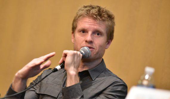 Kos Weaver speaks during the 2016 Music Biz Conference. Photo: Music Biz