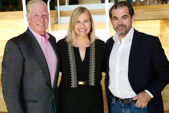 Pictured (L-R): SESAC's Pat Collins, Mayor Megan Barry and SESAC's John Josephson. Photo: Terry Wyatt