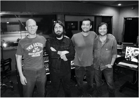 Pictured (L-R): Charlie Pate, Dave Cobb, Aaron Raitiere, and Adam Hood. Photo: Warner/Chappell Music