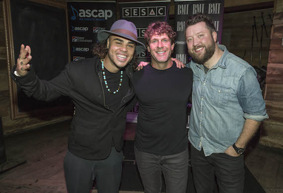 Pictured (L-R): Shy Carter, Billy Currington and Cary Barlowe. Photo: Ed Rode.