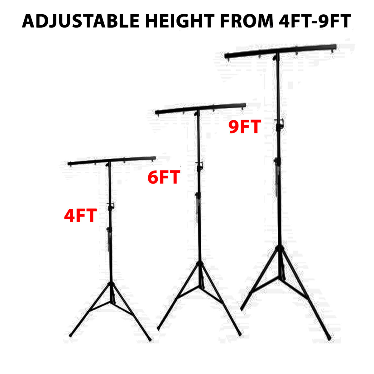 Dj Lighting Stand Package W 2 Stands Square T Bars Carry