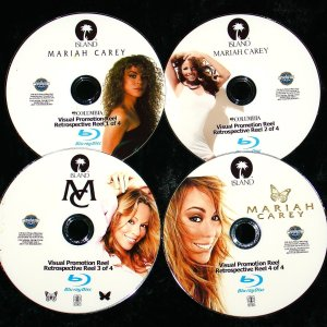 MARIAH CAREY Visual Promotion Reel 83 Music Videos 4 BLU-RAY DVD Set (Blu-Ray Format only) John Legend, Justin Bieber,  Luther Vandross, Jadakiss, Jermaine Dupri, Bone Thugs-n-Harmony, Snoop Dogg, Jay-Z
