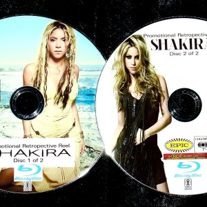 SHAKIRA Promo Retrospective Reel 43 Music Videos 2 BLU-RAY DVD Set (Blu-Ray Format only)