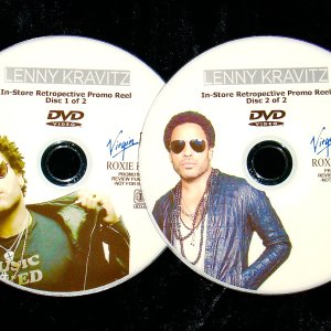 LENNY KRAVITZ In-Store Retrospective Music Video Promo Reel 2 DVD Set includes Mick Jagger, P Diddy, Avicii, Michael Jackson and MORE!!!