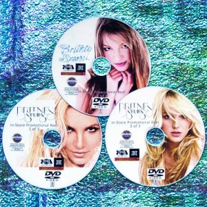 "BRITNEY SPEARS In-Store Promo Reel 75 Music Videos & Remix 1998-2016 3 DVD Set (INCLUDES ""Slumber Party Feat. Tinashe"")"