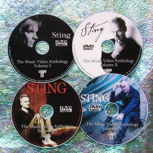 STING The Music Video Anthology 1986-2017 4 DVD Set 6.5 Hours (includes One Fine Day and I Can't Stop Thinking About You)