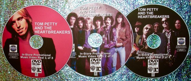 "TOM PETTY and The Heatbreakers ""In-Store Promotional Music Video Reel"" 45 Music Videos 1979-2017 3 DVD Set (Includes Mudcrutch)"