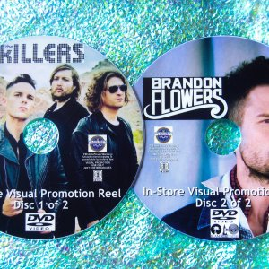 """The Killers and Brandon Flowers (Solo) """"The Music Video Anthology"""" 2 DVD Set (contains FOURTY TWO music videos)"""