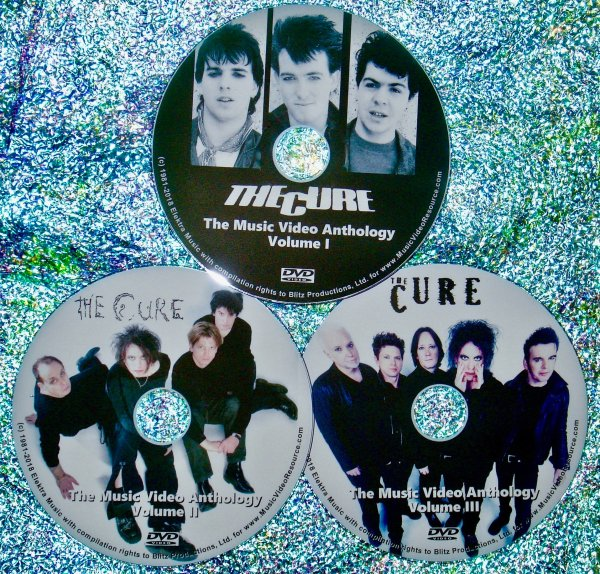 THE CURE Music Video Anthology 1978- 2009 3 DVD Set (56 Music Videos 5.5 Hours)