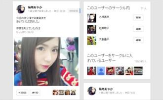 <写真>卒業を発表したAKB48菊地あやかのグーグル+