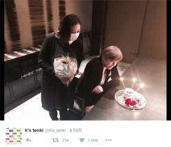 ファンを中心に喜びの声が広がっているKEIKOと小室哲哉のツーショット写真(KEIKOのツイッター「k's tenki」より)