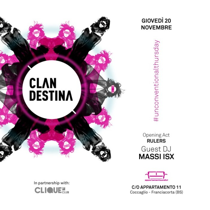 Clandestina Private Party - 20-11-14 , Appartamento 11 (BS)